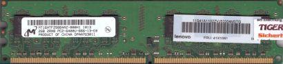 Micron MT16HTF25664AZ-800H1 PC2-6400 2GB DDR2 800MHz Lenovo 41X1081 RAM* r823