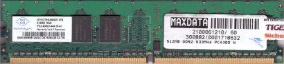 Nanya NT512T64U88A0F-37B PC2-4300 512MB DDR2 533MHz Arbeitsspeicher RAM* r825