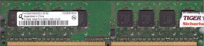 Qimonda HYS64T64000EU-3S-B2 PC2-5300 512MB DDR2 667MHz Arbeitsspeicher RAM* r827