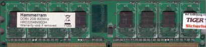 Hammerram HRD22048M800H PC2-6400 2GB DDR2 800MHz CL6 Arbeitsspeicher RAM* r837