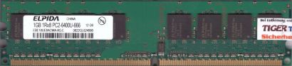 Elpida EBE10UE8ACWA-8G-E PC2-6400 1GB DDR2 800MHz HP 404574-888 RAM* r839