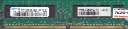 Samsung M378T6553BZ0-KCC PC2-3200 512MB DDR2 400MHz CL3 Arbeitsspeicher RAM*r840