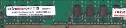 Extrememory EXME01G-DD2N-800S50-F1 PC2-6400 1GB DDR2 CL5 800MHz RAM* r841