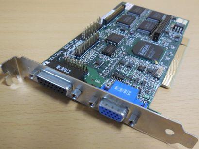 MATROX Mystique MY220P BIZ4I MGA-1164 Cyclone 4MB VGA Retro PCI Grafikkarte*g491
