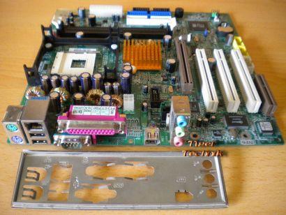 Gigabyte GA-8SIMLNF Rev 2.0 Mainboard +Blende Sockel 478 Firewire LAN Audio*m227